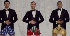 """Nothing rings in the holiday season like men in boxers thrusting to the tune of """"Jingle Bells."""""""