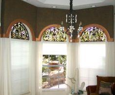 Beautiful Window Treatments For Eyebrow Arch Windows Inside Design Inspiration