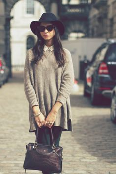 The perfect shirt, skirt, sweater combo