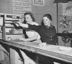 April 6, 1958. Detroit police members