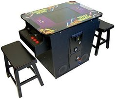 Cocktail Arcade Machine 60 Games Includes 2 Stools