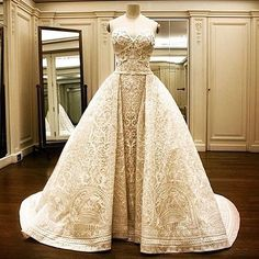 #sofiavergara's baroque inspired wedding gown #zuhairmuradofficial