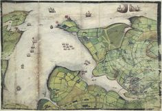 Lord Burghley's Atlas - caption: 'Coloured manuscript plan of Falmouth Haven, or Harbour.' | Flickr - Photo Sharing!