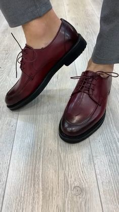 Collection: Fall – Winter Product: Laced Shoes Shoes sole: Rubber Shoes Material: Leather Available Size: Gift: Belt Best Shoes For Men, Formal Shoes For Men, Shoes Men, Casual Leather Shoes, Italian Leather Shoes, Gents Shoes, Cordovan Shoes, Men's Wedding Shoes, Gentleman Shoes