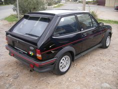 Awesome black Ford Fiesta XR2. My 2nd car..... loved it, thought it was sooo sporty!