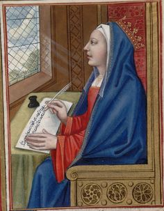 Deianira (has been suggested to represent Anne of Brittany) -- Huntington Library Ms HM 60, f°46