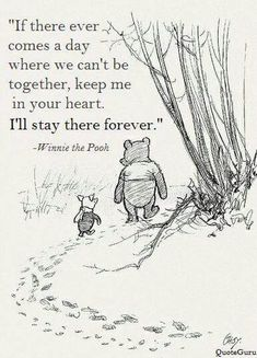 Wisdoms of the Pooh Bear: I think we dream so we don't have to be apart for so long. If we're in each other's dreams, we be together all the time. ~ Winnie the Pooh Cant Be Together, Winnie The Pooh Quotes, Tao Of Pooh Quotes, Life Of Pi Quotes, In Love Quotes, Pooh Winnie, Love Quotes For Boyfriend, Dream Quotes, Smile Quotes