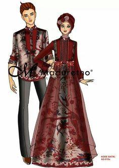 Ideas Dress Designer Sketches Long For 2019 Batik Fashion, Hijab Fashion, Dressy Dresses, Nice Dresses, Batik Muslim, Gaun Dress, Batik Couple, Muslim Dress, Modest Wear