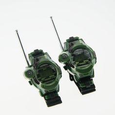 1 Pair Toy Walkie Talkies Watches Walkie Talkie 7 in 1 Children Watch Radio Outdoor Interphone Toy For Chirlden YH-17