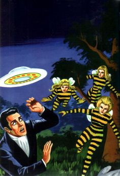 bee girls from outer space (Mexican pulp art)