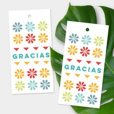 """These bold """"gracias"""" tags are a fresh way to say thanks!"""