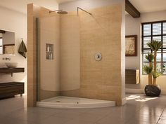 Fleurco Evolution Eclipse Curved Glass Walk-In Shower System V6636 $876.00