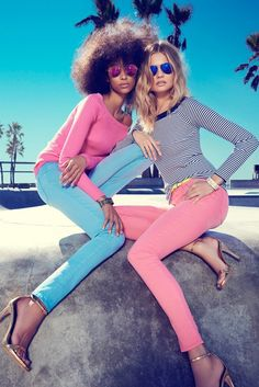 #MagdalenaFrackowiak + Anais Mali Hit #VeniceBeach for #JuicyCouture's 2014 spring campaign photographed by Claudia Knoepfel & Stefan Indlekofer; art direction by Roi Elfassy & Ray Chang