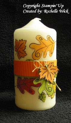 tissue paper candle...perfect for fall :)