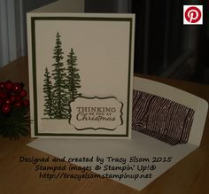 Christmas card using the Wonderland Stamp Set from Stampin' Up!  http://tracyelsom.stampinup.net