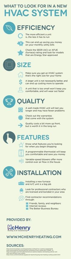 What size HVAC system do you need for your home? A larger unit can end up costing more and a smaller unit can wear out faster. Learn how to choose the right HVAC unit with help from this McHenry heating and cooling infographic! #HomeAppliancesInfographic