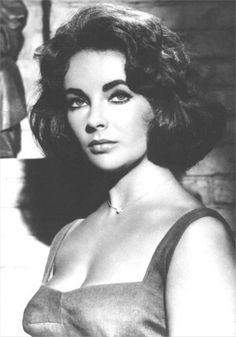 Elizabeth Taylor 1960s beautiful brunette vintage movie star head-shot