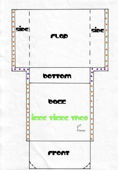 pattern for super easy messenger bag. Basic outline of how to make one.