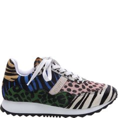 Of-the-moment leopard and zebra prints meet a street style-inspired sneaker. Crafted from multicolored mixed materials with a rubber sole. Green Shoes, Pop Fashion, Zebra Print, Product Launch, Slip On, My Style, Sneakers, Prints, Slippers