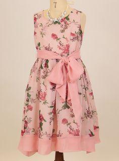 レトロな花柄にシフォンのサッシュベルトがしっとりと華やか子供ドレス 花柄ワンピース フラワーブーケワンピース 子供フォーマルドレス 女の子 入学式 子供服   商品番号: PC176OP
