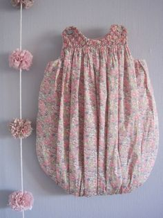 Smocked bubble dress