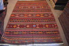 Beautiful Aimaq handmade tribal kilim from Afghanistan