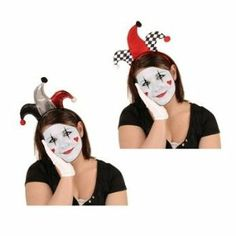 Jester Headbands Party Accessory (1 count) (1/Pkg) by Beistle. $4.05. perfect for transforming an ordinary person into a mime or jester. Tips of jester hat are accented with pompoms. Get ready for a Mardi Gras or medieval theme party. One size fits most. Plastic headband covered in cloth in black, red, white, or silver. w/snap-on headband