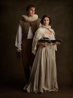 'Family Portrait', Photos of Movie & Comic Book Characters Dressed Up & Posing Together for Classic Flemish Paintings