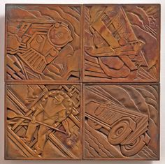 Title :     Tile: airplane motif [from the lobby of the Chanin Building, New York City] Artist:     René Paul Chambellan Designer Accession:     87.739.9.4.1 Country:     United States New York New York Date:     1927 1929 Dimensions:     Inches 5 5, Centimeters 12.7 12.7 Collection:     Object Category:     Decorative Arts and Furniture Collection Theme:     Art Deco