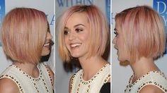 When I spied Katy Perry's new sleek bob and subtly strawberry blonde hair, I immediately loved it. And I knew that Kit expert Greg May, hairstylist and owner of Greg May Hair Architects would as . Zooey Deschanel, Cut My Hair, New Hair, Hair Styles 2014, Short Hair Styles, Katy Perry, Pretty Hairstyles, Bob Hairstyles, Cabello Zayn Malik