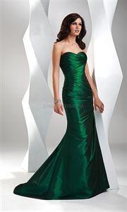 Flirt P1503 Elegant Sweetheart Taffeta Emerald Green 2011 Evening Gown   $128.00