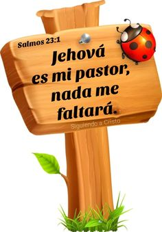 Salmos 23:1 Christian Verses, Dear Lord, Wood Signs, Religion, God, Texts, Quotes From The Bible, Bible Verses, Attributes Of God