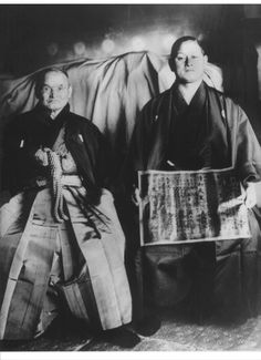 Takeda Sokaku and Hisa Takuma in Osaka 1939