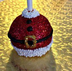 Santa Glittery Cake Pops Santa Claus Christmas Party Stocking Stuff....from @Autumn Lynn's Chocolate Sins!!! The best cake pops around!