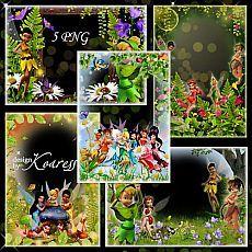 Детские рамки с персонажами мультфильмов - Волшебная Долина Фей
