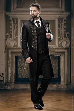 Pirate Gentlemen - Fancy dresses and wedding suits - Lucardis Feist - Extravagant bridal wear, wedding suits and fancy dresses Steampunk Mode, Steampunk Costume, Victorian Steampunk, Steampunk Clothing, Steampunk Fashion Men, Gothic Fashion Men, Victorian Mens Fashion, Steampunk Outfits, Steampunk Pirate