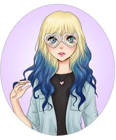 The heart-glasses girl - commission by Mari945 on DeviantArt