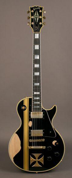 "James Hetfield   '73 Gibson Les Paul Custom, ""Iron Cross."""