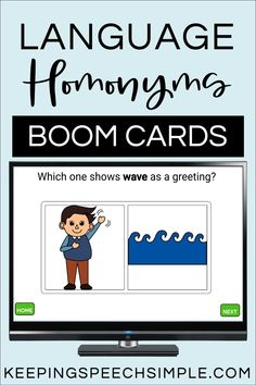 This interactice language activity targets 14 commonly used multiple meaning words. Students practice vocabulary skills by matching, receptive identification and usage in context. This activity can be used for speech therapy, special education or in the regular classroom for ELA. This Boom Card Set is appropriate for distance learning, teletherapy and in person lessons. This is a must have digital resource for your elementary students. Easy to use. Use year round.