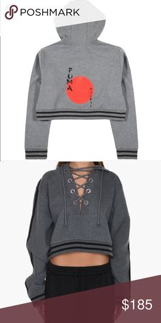 Rising Sun Sweatshirt Rihanna's Fenty by Puma Rising Sun sweatshirt in gray. This color and size are SOLD OUT online. New with tags. Bought from KITH store in SoHo NYC. Ask me any questions 😌🌹 Puma Sweaters