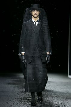 A look from the Thom Browne Fall 2015 Menswear collection.