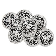 ZARABE Snap Button Fit Snap Bracelets White Rhinestone Flower Silver Tone 20mm-1PC -- Visit the image link more details.