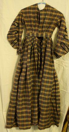 RARE Antique Victorian c. 1860 Ladies Plaid by EleanorMeriwether, $150.00
