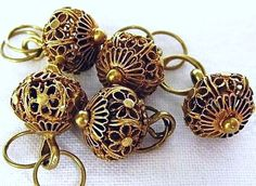 Antique Gold Filigree Buttons