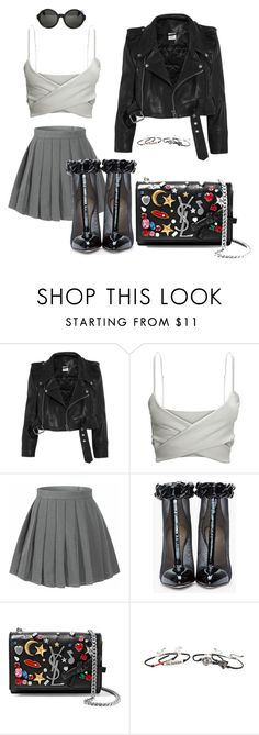 """""""Untitled #23"""" by prettybri1011 ❤ liked on Polyvore featuring Vetements, Versus, Yves Saint Laurent, Disney, Ann Demeulemeester, chic, rocker and luxury"""