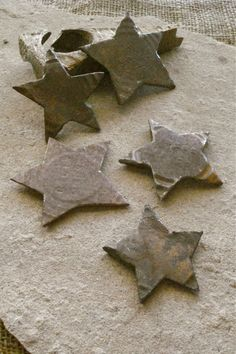 Primitive Rustic Vintage Rust Metal Star by busterbeanknows, $5.00