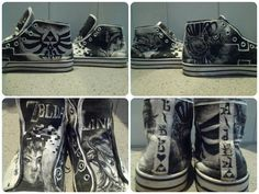 Legend of Zelda Twilight Princess Shoes by ZeldaCrap on Etsy, $80.00   These are so epic!!!