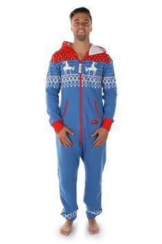 549a03558e1 Men s Reindeer First Date Jumpsuit Reindeer Onesie