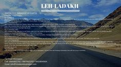 Mesmerizing & extra ordinary beauty of India - Leh ladakh.. Dream for everyone to visit this place.. Come along & enjoy the beauty of Leh ladakh with Himalaya destination..