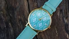 Check out this item in my Etsy shop https://www.etsy.com/listing/225979976/teal-and-white-aztec-watch-code-601